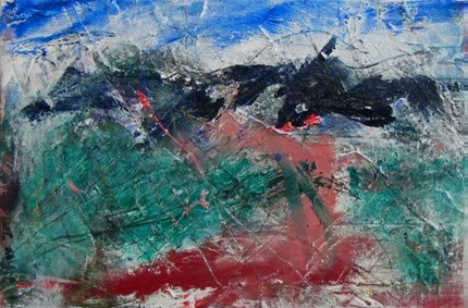 Provence Alps 2  Mixed media on canvas  22x33cm  160€