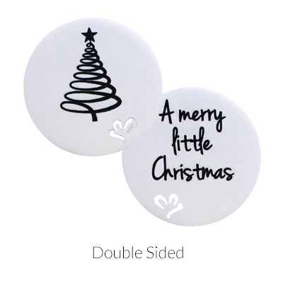 'A Merry Little Christmas' Statement Plate