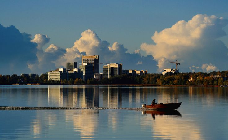 An Autumnal view of convection building over Espoo, Finland,