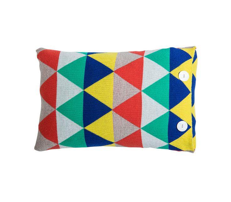 Indiana 100% Merino wool cushion in Sun - oblong