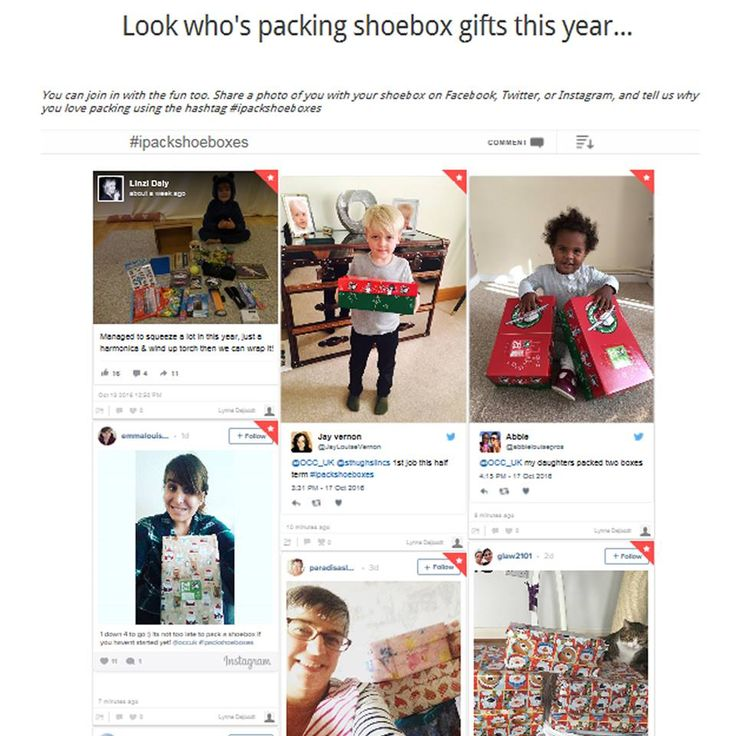 Take a look at our new #Ipackshoeboxes page and find out who's been packing shoeboxes this year: https://www.samaritans-purse.org.uk/article/look-whos-packing-shoebox-gifts-this-year/  If you have a photo to share tag us @occuk and use the hashtag #ipackshoeboxes. Happy packing!