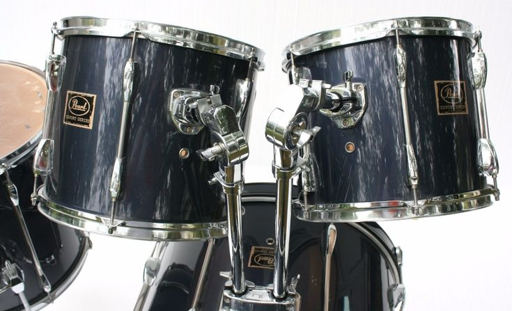 PEARL EX22D5 EXPORT 4 PC SET  Barely Used  One Piece Lugs 22 x 16 Bass Drum