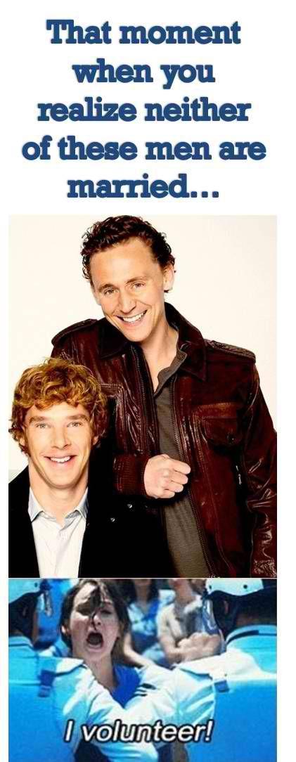 Cumberbatch and Hiddleston - I volunteer!