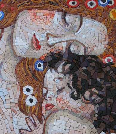 "From ""The three ages of woman"" by Klimt - Silvia Danelutti artistic mosaics"