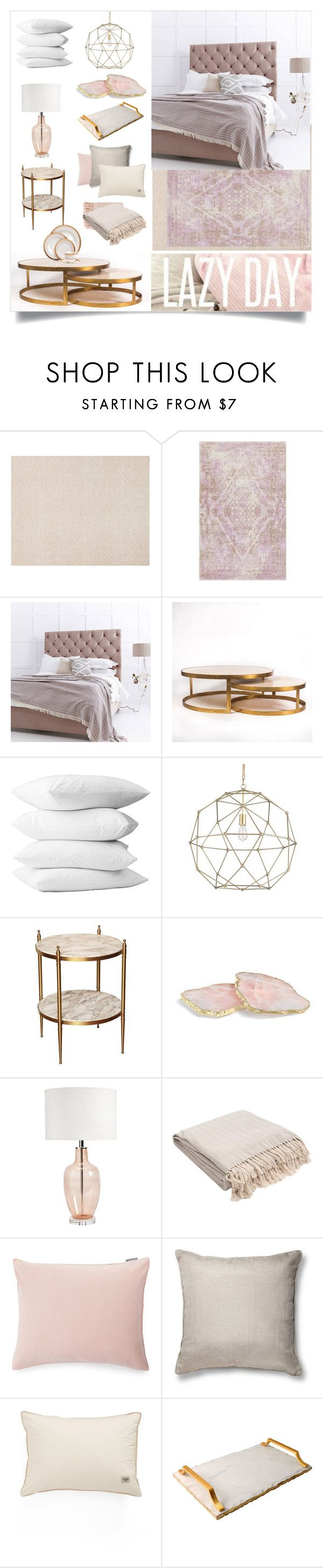 """Lazy day"" by slavulienka on Polyvore featuring interior, interiors, interior design, home, home decor, interior decorating, ANNA by RabLabs, Ballard Designs, Jaipur and Lexington"