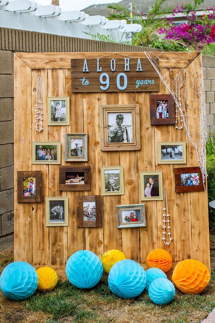 Vintage Hawaiian Luau Birthday {Aloha to 90 Years!} // Hostess with the Mostess®