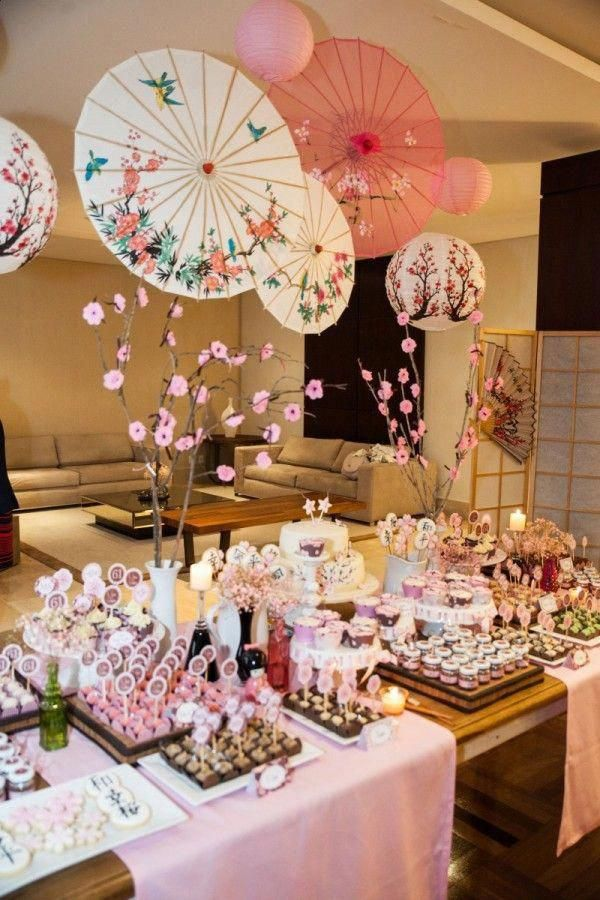Compassionate Quinceanera Party Ideas Dig This Asian Party Cherry Blossom Party Japanese Party