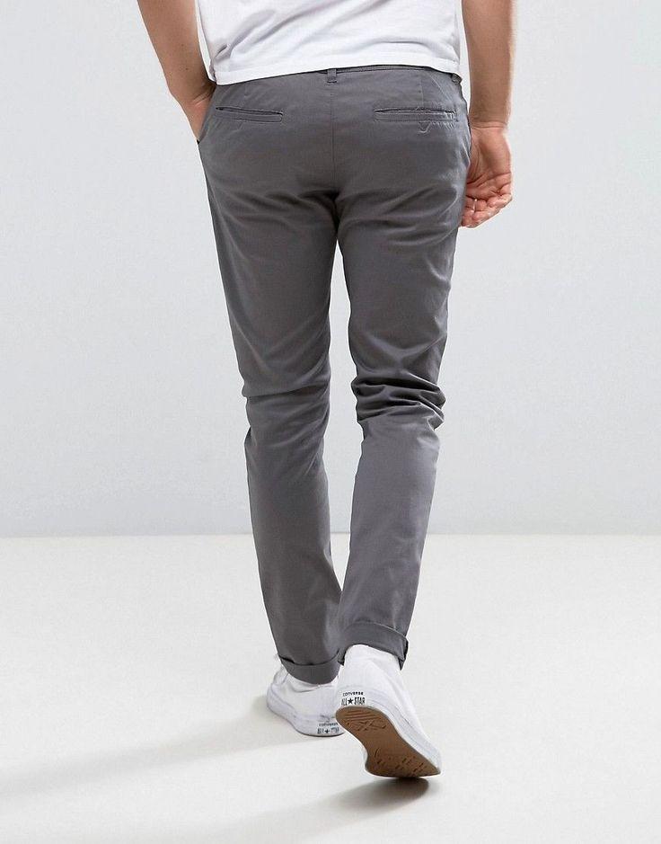 ASOS Skinny Chinos In Gray - Gray