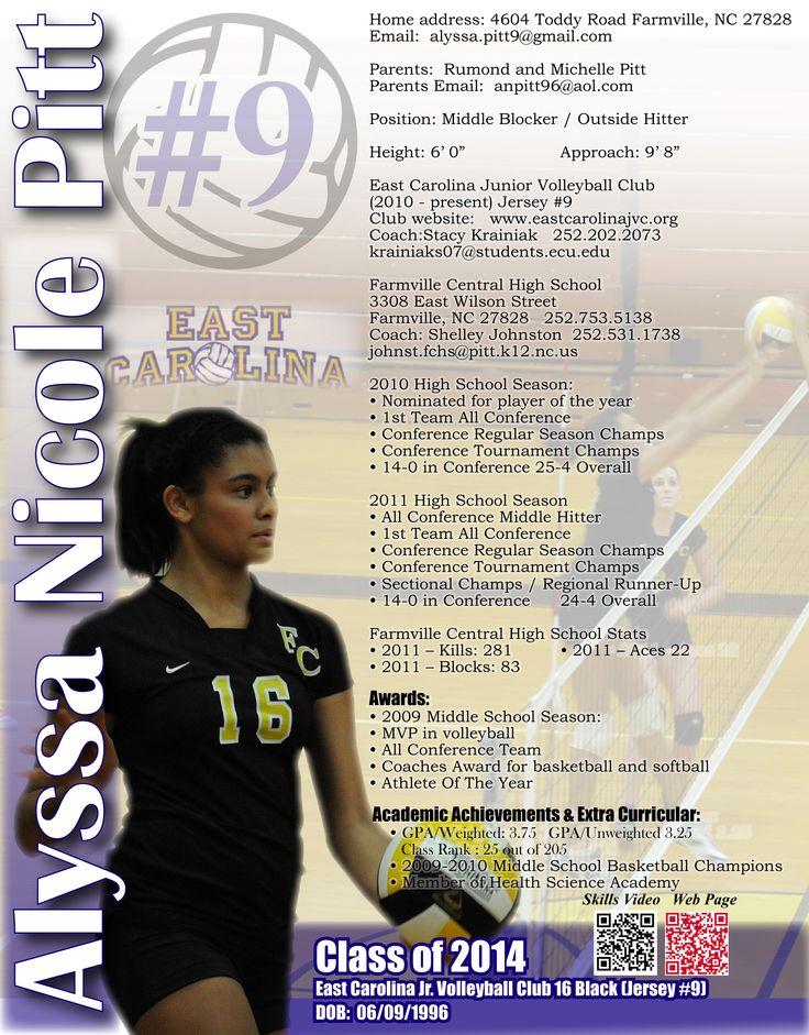 free resume template of athlete