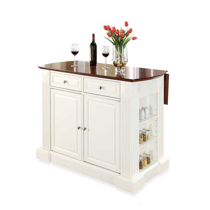 Crosley Furniture Hardwood Drop Leaf Breakfast Bar Kitchen