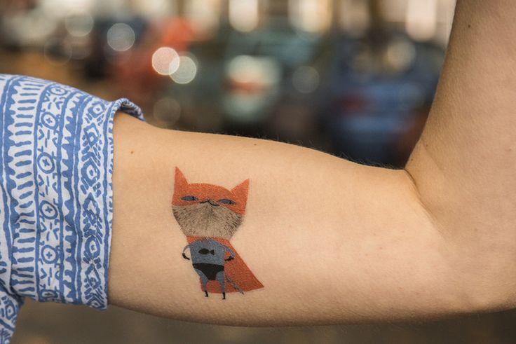 Weiteres - Temporary Tattoo - supercat - ein Designerstück von tattootattaa bei DaWanda