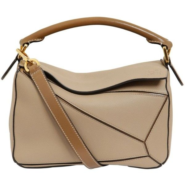 Loewe Women Small Puzzle Leather Top Handle Bag (134.785 RUB) ❤ liked on Polyvore featuring bags, handbags, shoulder bags, mink, leather cross body purse, brown purse, brown leather purse, leather crossbody purse and leather crossbody handbags
