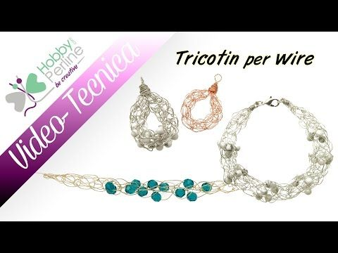 "Tutorial "" Viking knitting"" maglia Vichinga tecnica base - Wire wrapping - YouTube"