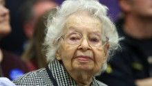 Ruline Steininger 102-year-old attends the 2016 caucus