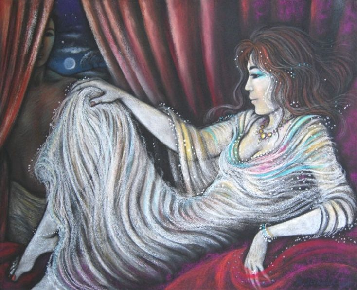 ARTFINDER: Venus Waiting by Phyllis Mahon - 'Venus Waiting' is a title that I love to use time & time again. Here, in this version completed in 2014, Venus is languid in her diaphanous dress, barefoot ...