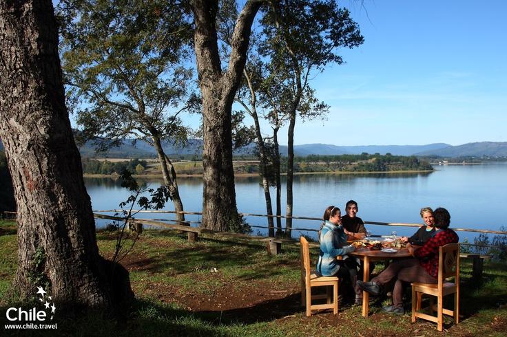 Breakfast in Lago Lanalhue, Regíon del Biobío, Chile