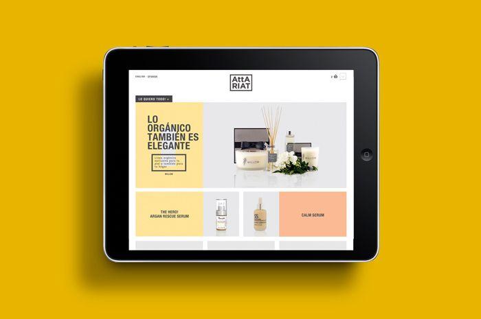 attariat, cosmetics atelier, tatabi studio | UX / UI / web