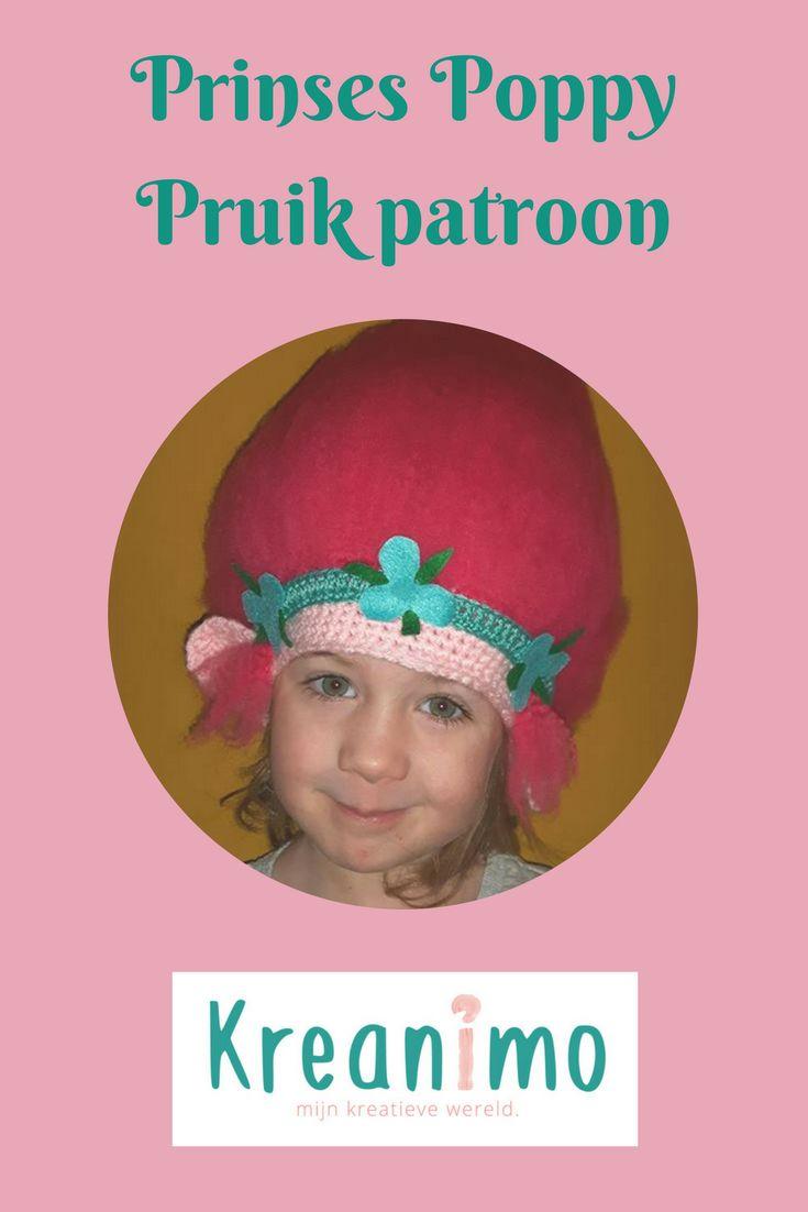Verkleden: Patroon voor Poppy trollen-muts - Crea-cross https://blog.kreanimo.com/verkleden-patroon-trol-muts/