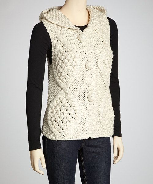 Take a look at this Montanaco Cream Diamond Kit Wool-Blend Vest on zulily today!