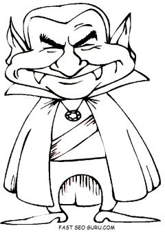 Print out happy halloween Dracula Coloring Pages - Printable Coloring Pages For Kids