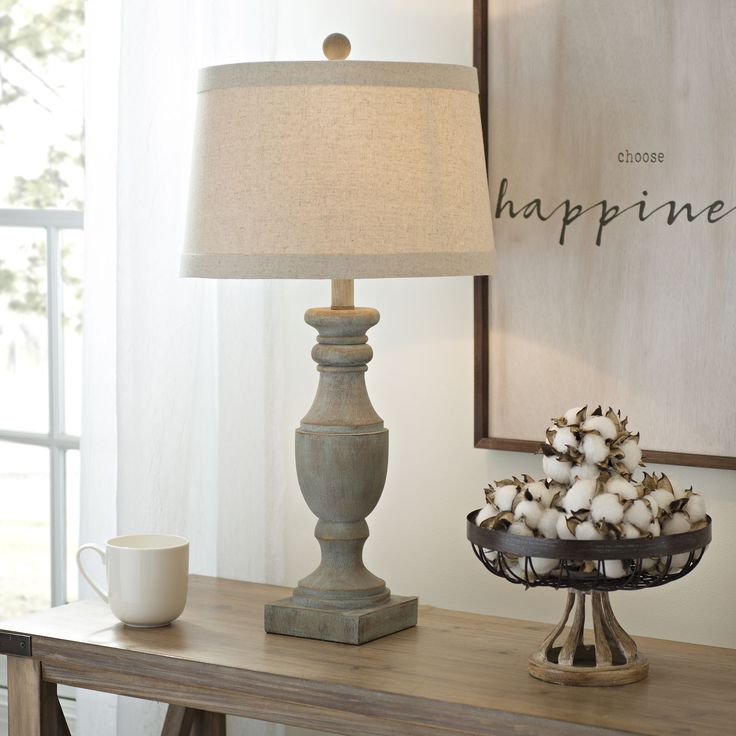 Blue and Gray Wash Table Lamp Farmhouse table lamps