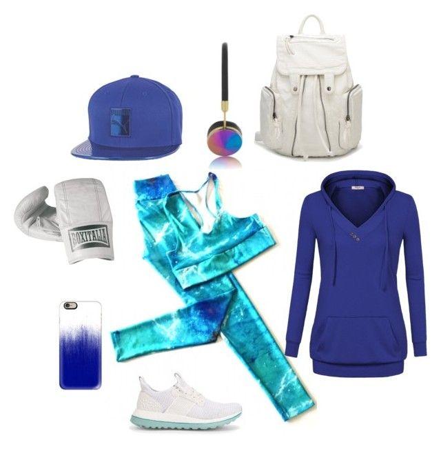 """""""Aquamarine"""" by tomazarango on Polyvore featuring moda, adidas, Puma, Casetify, Frends y Seletti"""