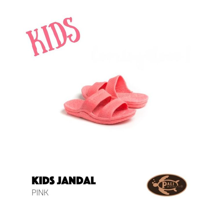 Pali Hawaii Kids Pink Jandals