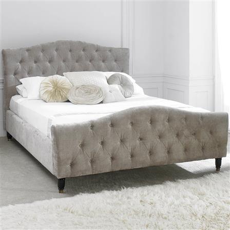 Phobos King Fabric Bed Frame, Mink, Choose Set