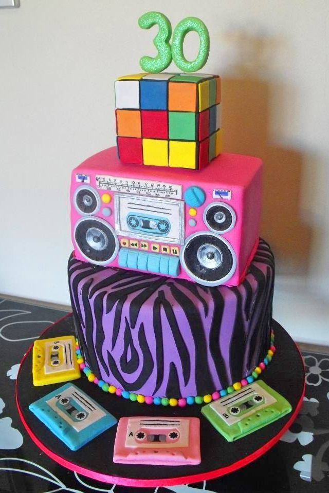 80's Cake...love it! Would be perfect for my 30th bday :)
