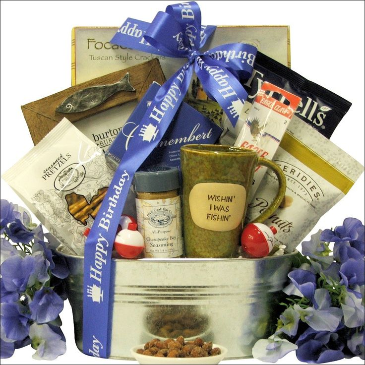 The 25 best fishing gift baskets ideas on pinterest men gift gone fishing birthday fishing gift basket negle Images