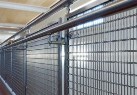Stainless steel wire mesh infill panels for the Lewisville High School. #Education
