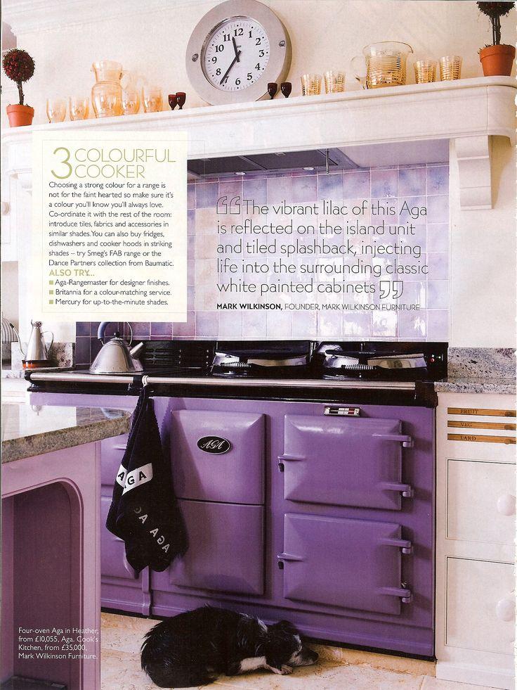 Purple AGA stove
