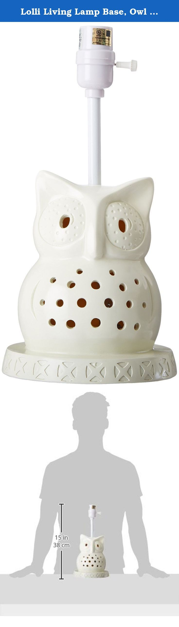 Lolli Living Lamp Base, Owl (Discontinued By Manufacturer). This Owl Lamp  Base
