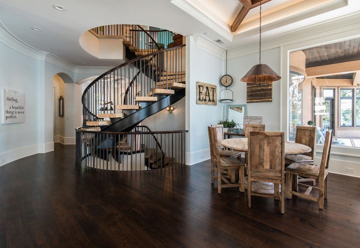 Beautiful staircase (Weber Design Group via House of Turquoise)