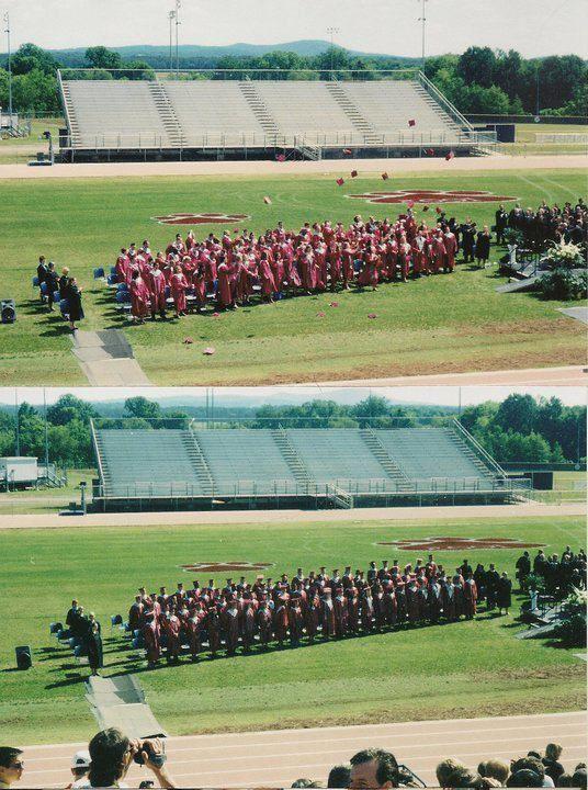 """Kenneth Wayne """"Redd"""" Williams Jr., Woodland High school 2001 graduation. — with Eric Wheeler, Eric Tucker, Seth Wade and Rob Base at Woodland High School."""
