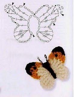 Gráficos de flores e borboletinhas: :: Crochê da JU