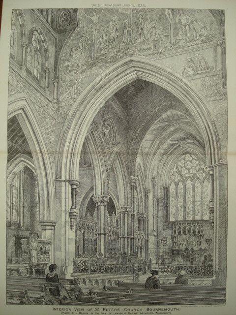 Interior of St. Peter's Church , Bournemouth, Dorset, England, UK, 1884, Lawson & Donkin