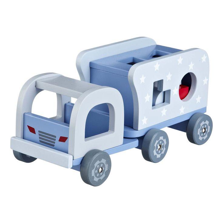 Lastebil med klosser