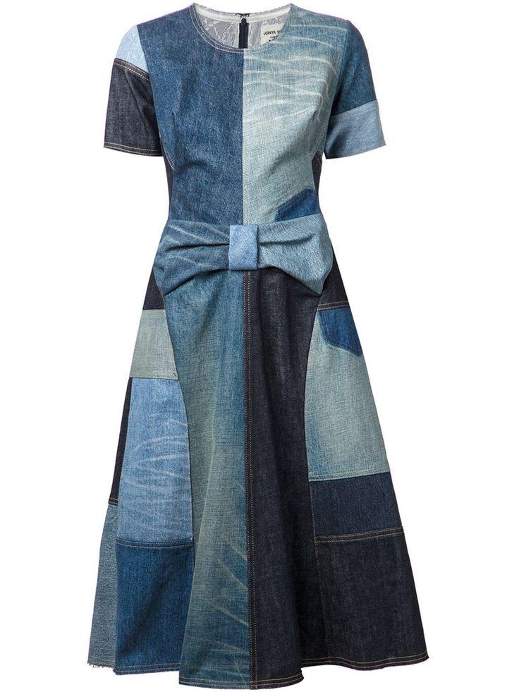 Junya Watanabe Comme Des Garçons Patchwork Denim Dress - - Farfetch.com