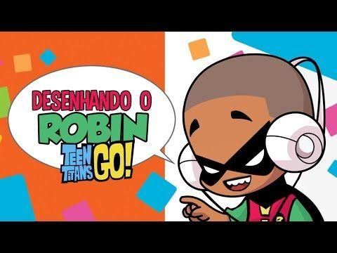 Como desenhar Robin Teen Titans Go! How to draw Robin Teen Titans Go!