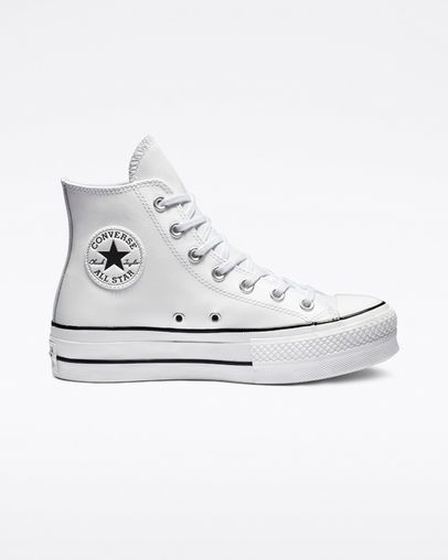 5f4f7a37d0 Chuck Taylor All Star Lift Clean Leather High Top White/Black/White