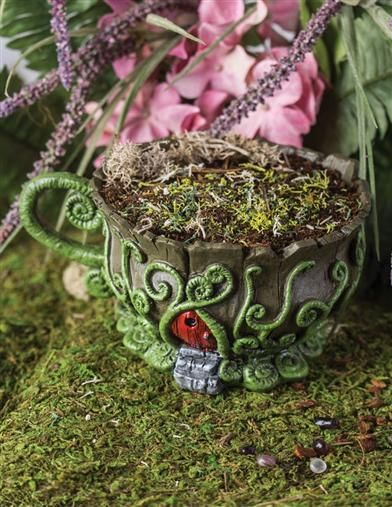 Woodland Teacup Fair Home Planter From Victorian Trading Co