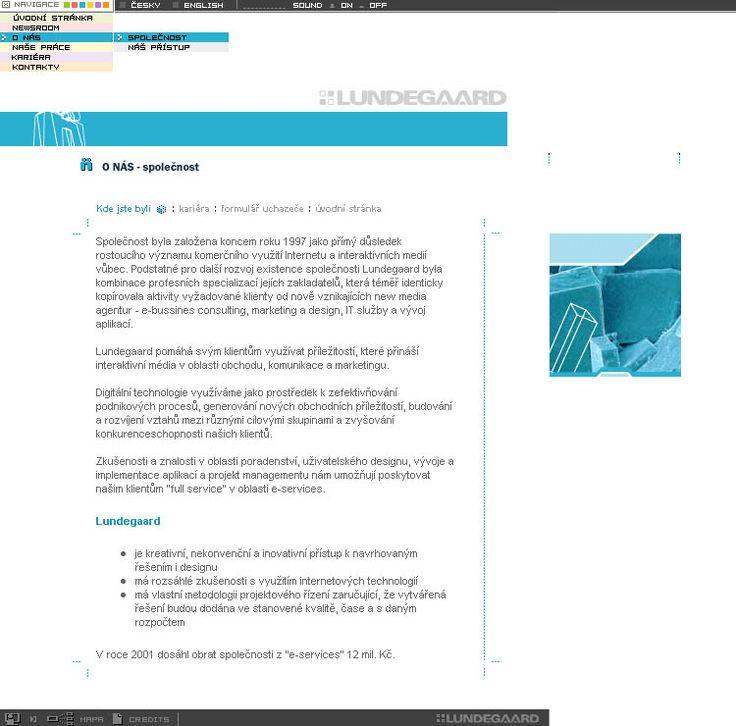 Lundegaard website in 2002