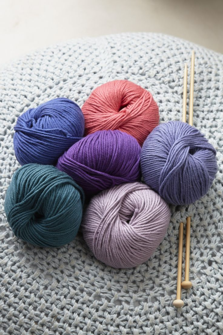 Debbie Bliss COTTON DK A 100% cotton that whilst soft is hard wearing and therefore perfect for homeware or casual knits. Slightly thicker than a standard double knitting, it knits up quickly and easily.