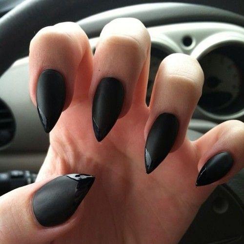 czarne matowe paznokcie - Szukaj w Google