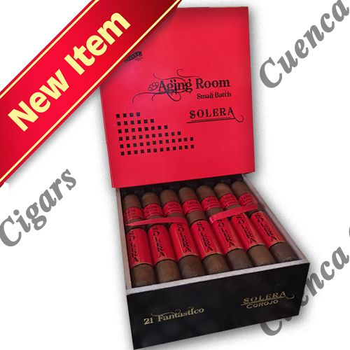 Shop Now Aging Room Solera Festivo Pigtail Red Corojo Cigars - Natural Box of 20 | Cuenca Cigars  Sales Price:  $125.99