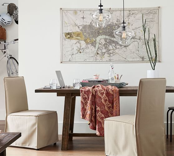 Bartol Fixed Reclaimed Pine Dining Table From The Pottery Barn Small Spaces Collection