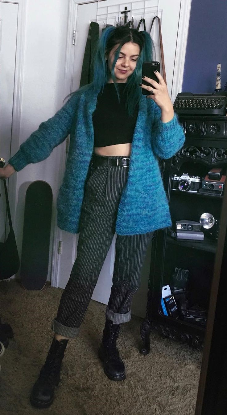 exceptional outfit grunge falda 2017