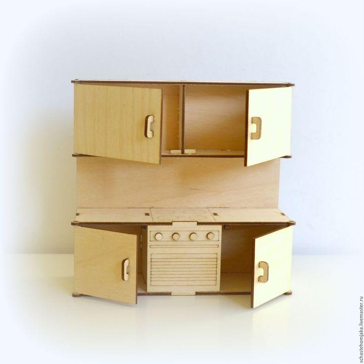 Купить Кухня для кукольного домика - кукольная мебель, Мебель, мебель для кукол, мебель для куклы