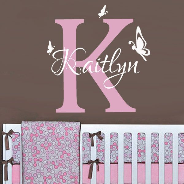 Best Decals Images On Pinterest Wall Stickers Headboards And - Monogram vinyl wall decals for girls